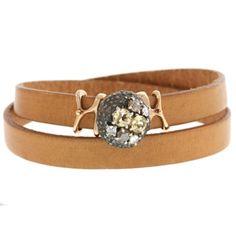 Citrine and Diamond Wrap Bracelet