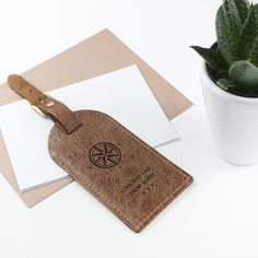 Personalised Natural Tan Leather Luggage Tag https://harringtons-gift-store.co.uk/products/personalised-natural-tan-leather-luggage-tag