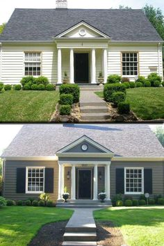 Love the before and after paint job on this from Barclay Vines Interiors!