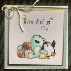 Stamping Bella – The Walrus, The Polar Bear and the Penguin . Polar Bear, Penguins, Stamping, Appreciation, Thankful, Cards, Fun, Handmade, Hand Made