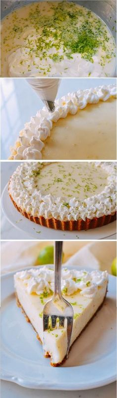 Key Lime Tart Key Lime Tart recipe by the Woks of Life No Bake Desserts, Just Desserts, Delicious Desserts, Dessert Recipes, Yummy Food, Easter Desserts, Lemon Desserts, Tart Recipes, Cookbook Recipes