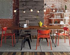 exposed brick / wood wall