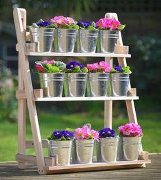 Wooden Patio Pot Holder Garden 3Tier Herb Plant Flower Stand Display Decor Shelf