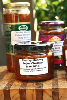 Recipe: Chunky Monkey Feijoa Chutney (the best-ever feijoa recipe, skins included) - Recipe: Chunky Monkey Feijoa Chutney (the best-ever feijoa recipe, skins included) – thisNZlife - Fejoa Recipes, Guava Recipes, Relish Recipes, Chutney Recipes, Sauce Recipes, Cooking Recipes, Curry Recipes, Recipies, Pineapple Guava
