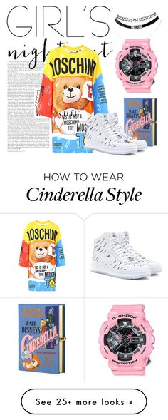 """""""Untitled #9"""" by tianxinrucc on Polyvore featuring Moschino, Olympia Le-Tan, NIKE, women's clothing, women, female, woman, misses and juniors"""