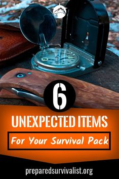 besides the essential survival gear basics you have in your survival pack there are some unusual survival items you can take with you. This post has 6 unexpected items for your survival pack that you can use next time you pack your survival gear Survival Essentials, Survival Items, Survival Supplies, Survival Tools, Wilderness Survival, Survival Knife, Survival Prepping, Emergency Preparedness, Emergency Kits