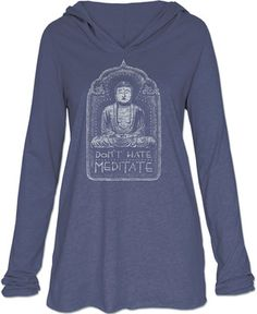 Don't Hate Meditate Women's Yoga Hoodie