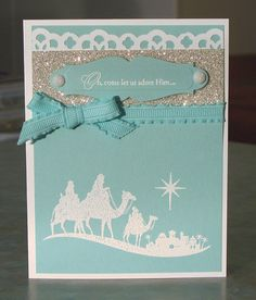 Stampin Up Come to Bethlehem Christmas Card