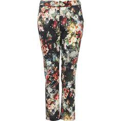 Winter Floral Cigarette Trousers ($76) via Polyvore