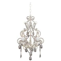Contemporary Leila White Clear Swag Plug-in Chandelier - traditional - chandeliers - Lamps Plus Best Bathroom Lighting, Bathroom Light Fixtures, Plug In Chandelier, Chandelier Lighting, Wire Installation, Interior Decorating Tips, Decorating Ideas, Decor Ideas, Acrylic Frames
