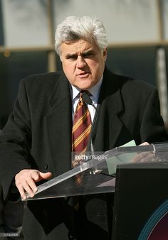Jay Leno during Donald Trump Honored With a Star on the Hollywood Walk of Fame…