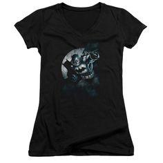 BATMAN/BATMAN SPOTLIGHT - JUNIOR V-NECK - BLACK -