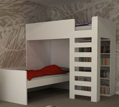 Folkestone L Shape Bunk Beds Fun and space saving design to fit in the corner of your child s room Available in white or choose your own bespoke £850 200 x 97 x 1800