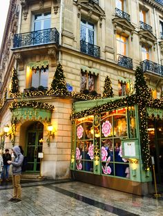 Laduree tearoom. The City of Lights is one of the best cities to eat and drink. With 24 hours in Paris visit these bakeries, patisseries and the best place to drink wine.
