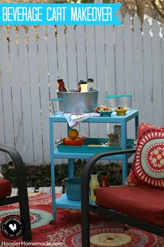 From rags to riches - this Beverage Cart Makeover is perfect for all your Outdoor Entertaining! With some sand paper, spray paint and a little elbow grease, this Bar Cart comes to life! Pin to your DIY Board!