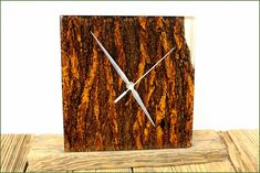 Clocks – Unique wall clock made of oak bark and resin – a unique product by PieceOfNature on DaWanda