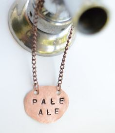 Custom Round Copper Beer Tap Handle ID Tags by BrewForge on Etsy, $6.00