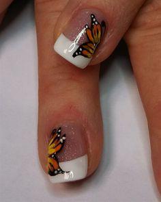 butterfly pieces by aliciarock - Nail Art Gallery nailartgallery.nailsmag.com by Nails Magazine www.nailsmag.com #nailart