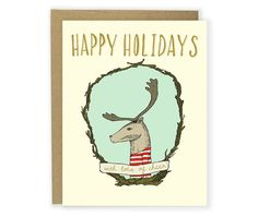 Happy Holidays with Lots of Cheer Reindeer Christmas Card from Hello Small World