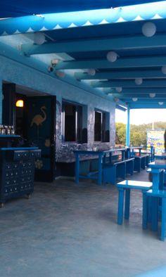 The Blue Bar in Formentera, Spain