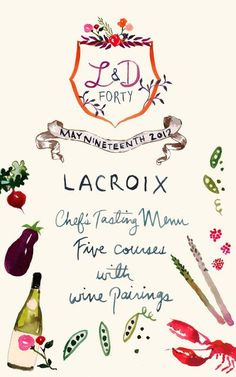 Happy Menocal for Lacroix (AKA the most beautiful stationery I've ever seen)!