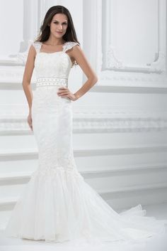White Ivory Satin Strapless Wedding Gowns - Order Link: http://www.theweddingdresses.com/white-ivory-satin-strapless-wedding-gowns-twdn3491.html - Embellishments: Beading; Length: Sweep/Brush Train; Fabric: Satin; Waist: Natural - Price: 199.1806USD