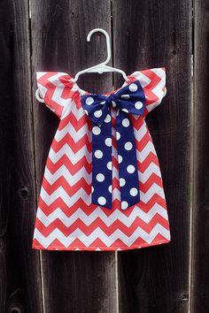 Hey, I found this really awesome Etsy listing at https://www.etsy.com/listing/157791254/coral-chevron-navy-polka-dot-bow-peasant