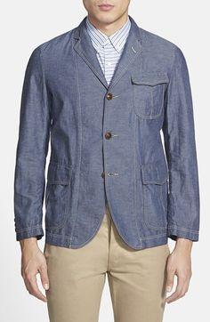 Men's J. Press York Street 'Authentic' Trim Fit Cotton & Linen Jacket