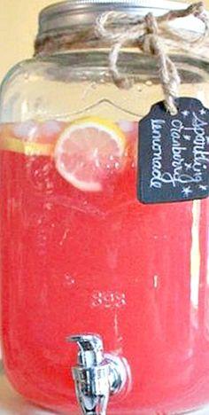 Sparkling Cranberry Lemonade ❊