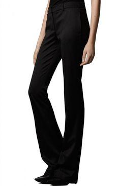 Elda Mid Rise Flare-Cut Wool Trousers, $196.00