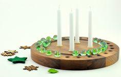ZIRKL Adventskalender: Adventsspirale mit Murmeln - Adventskalender und Adventskranz in einem. Wiederverwendbarer Kalender von Klotzaufklotz bei DaWanda