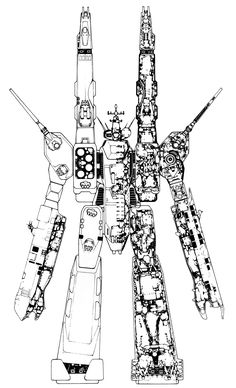 SDF1 Macross (Attack mode cross section)