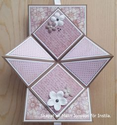 Pop Up Kort Pyssla Med Instila Fancy Fold Cards Pop Up Cards