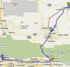 The quick route southwest from Barstow is on I-15. Exit at CA Hwy 18 east, then turn right onto D Street.   If you take National Old Trails Hwy (W Main) instead through Lenwood and Oro Grande, you'll cross a 1930 steel truss bridge over the Mojave River just before reaching Victorville, where the road becomes D Street.