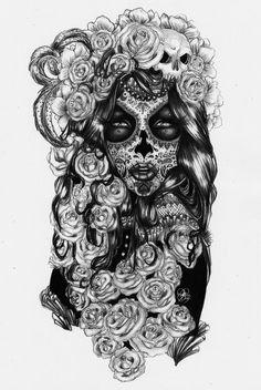 'Day of the Dead' The Sugar Skull Girl by Sarah-Giardina on deviantART