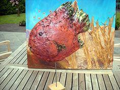 Zandstorm: Decoratieve vis (Powertex,beelden)