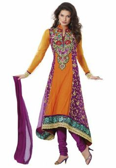 Indian Designer Wear Orange & Violet Embroidered Salwar Fabdeal, http://www.amazon.de/dp/B00HGEP4TA/ref=cm_sw_r_pi_dp_BC9otb0BZF2TC