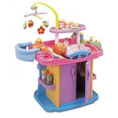 Doll Nursery Center: Baby doll toy nursery center is perfect pretend nursery center with baby doll changing table and care center. Cool Toys For Girls, Diy For Kids, Baby Furniture, Doll Furniture, Baby Doll Changing Table, Princess Toys, Baby Doll Toys, Baby Alive, Nursery Inspiration