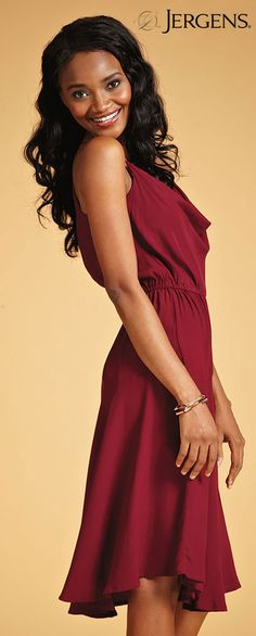 Bordeaux is the hot new color. It really works on this dress from No. 6.