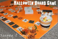 Keeping it Simple: Halloween Board Game with Free Printable.  Perfect for family night and class parties.