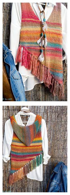 Knit Hooded Vest - idea Liv, Hooded Vest, Circular Needles, Knitting Stitches, Crocheting, Stitch Patterns, Knit Crochet, Zelda, Sweaters