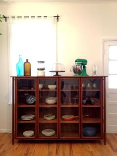 beautiful extra large danish mid century modern china cabinet or bookshelf made of solid walnut