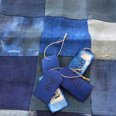 Indigo patchwork pillows now on sale !