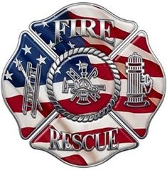 Fire Rescue Maltese Cross Decal | Firefighter Decals and Fire Department Stickers | Firefighter.com