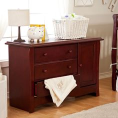 Merveilleux Cherry Wood Baby Dresser. Changing Table ...