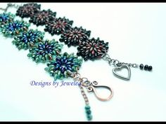 Superduo & Chinese Polished Beads Bracelet - #Seed #Bead #Tutorials