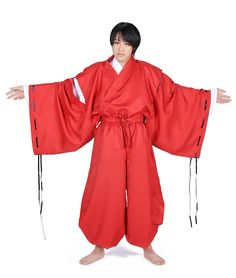 WS_COS Japanese Anime InuYasha Cosplay Costume - InuYasha Set L -- Check out the image by visiting the link.