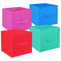 Essentials Trendy Collapsible Storage Containers with Handles