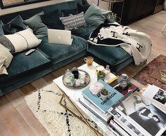 Oscar sofa in 'Mermaid' velvet from Loaf
