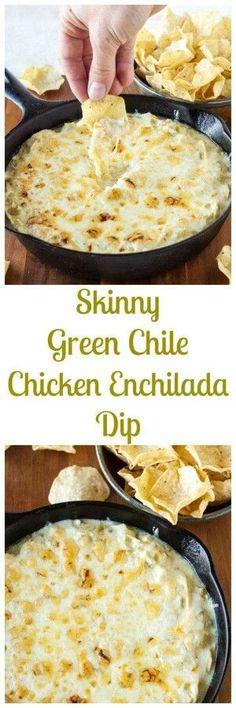 Skinny Green Chile C Skinny Green Chile Chicken Enchilada Dip. Skinny Green Chile C Skinny Green Chile Chicken Enchilada Dip I Love Food, Good Food, Yummy Food, Tasty, Yummy Appetizers, Appetizer Recipes, Salmon Appetizer, Simple Appetizers, Simple Snacks